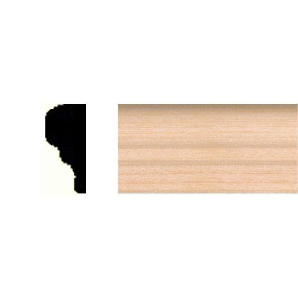 5/16 in. x 11/16 in. x 8 ft. Basswood Panel Moulding