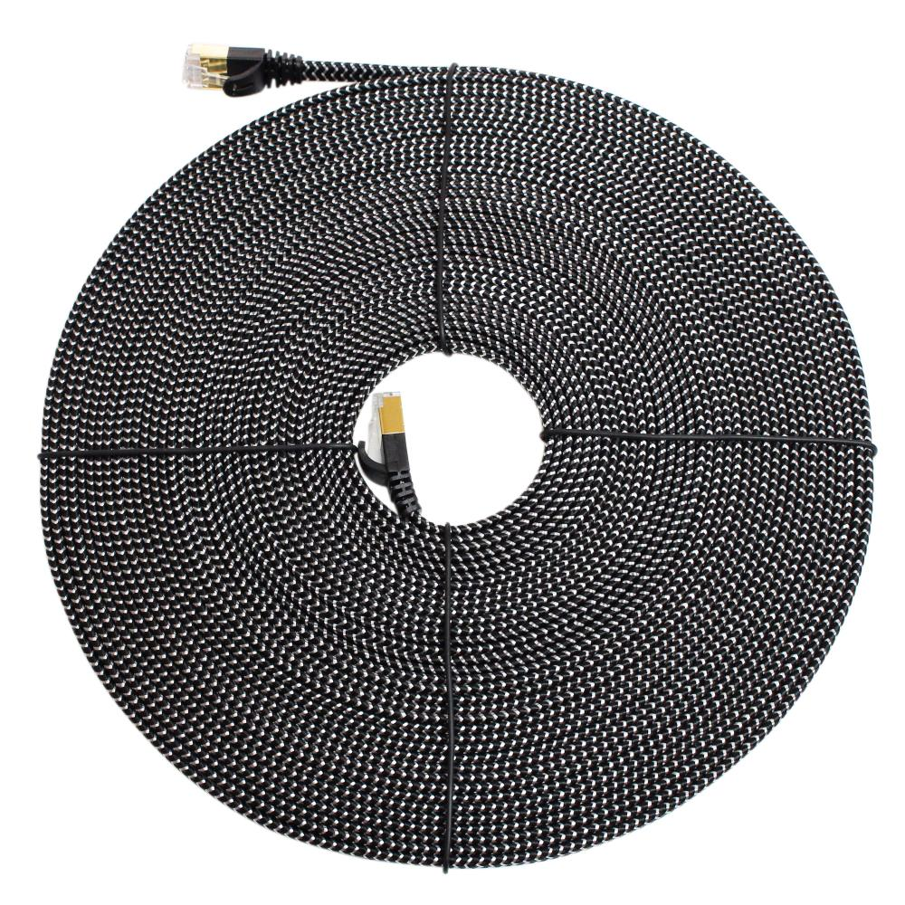 Pleasant Tera Grand Cat 7 10 50 Ft Gigabit Ethernet Braided Cable For Modem Wiring 101 Ouplipimpapsstreekradiomeanderfmnl