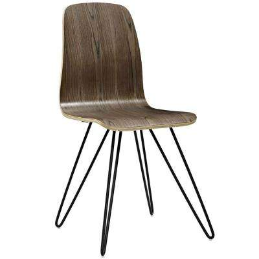 Drift Walnut Bentwood Wood Dining Side Chair