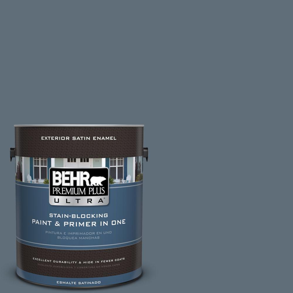 BEHR Premium Plus Ultra 1-gal. #N480-6 NYPD Satin Enamel Exterior Paint