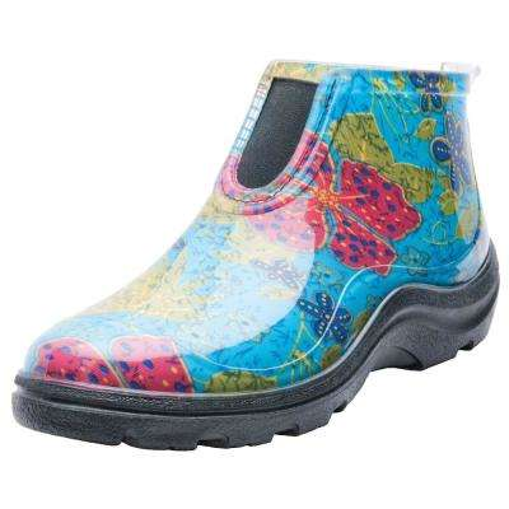 Women's Blue Ankle Rain & Garden Shoes