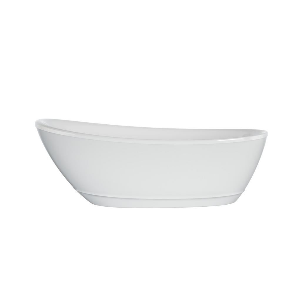 JACUZZI Johanna 67 in. x 32 in. Acrylic Flatbottom Freestanding Soaking Bathtub in White was $1699.0 now $999.0 (41.0% off)