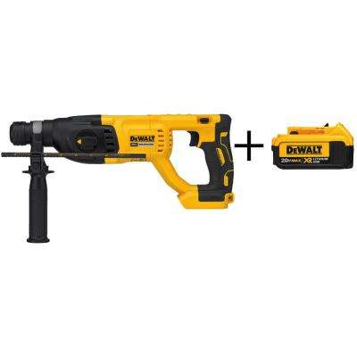 20-Volt MAX XR Li-Ion 1 in. Cordless SDS-plus Brushless D-Handle Rotary Hammer (Tool-Only) with Bonus Battery Pack 4Ah