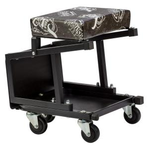 Click here to buy Gas Monkey Mechanic Creeper Seat and Stool Combo - 5 Rolling casters with 300 lbs. Capacity for Auto Car Garage by Gas Monkey.