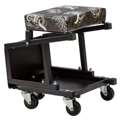 Mechanic Creeper Seat and Stool Combo - 5 Rolling casters with 300 lbs. Capacity for Auto Car Garage