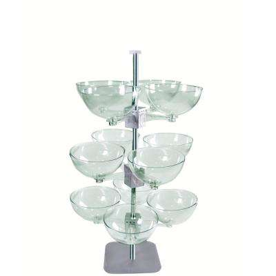 Three Tier Quad Arm 14 in. Bowl Display
