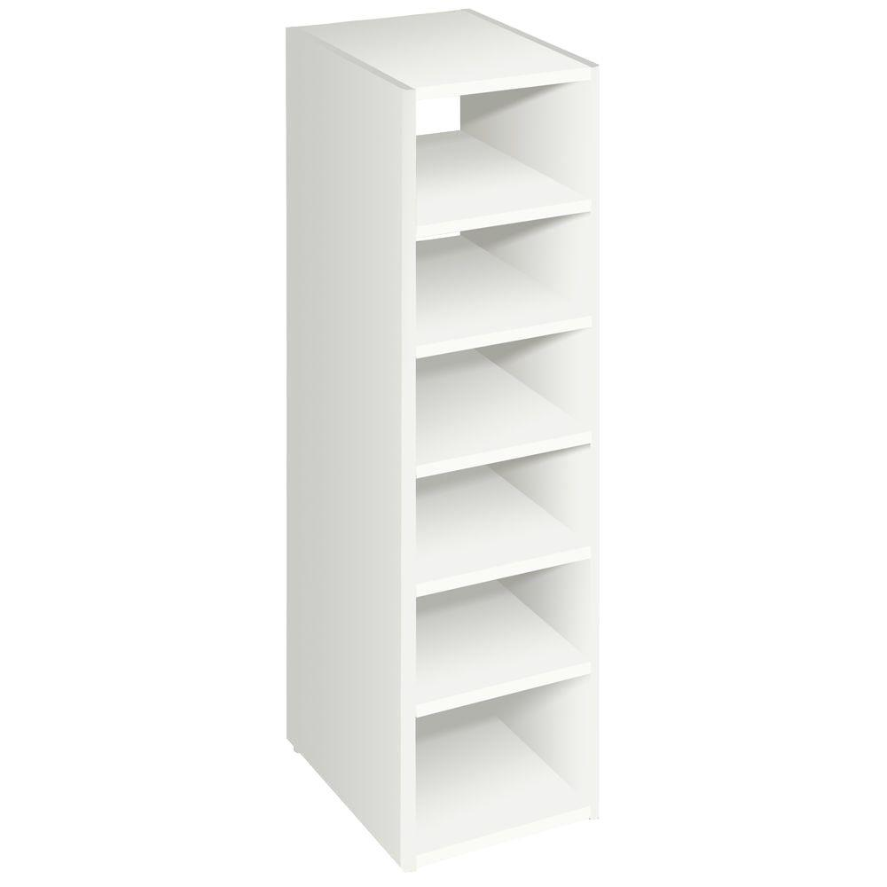 Superbe White Stackable 7 Shelf Organizer