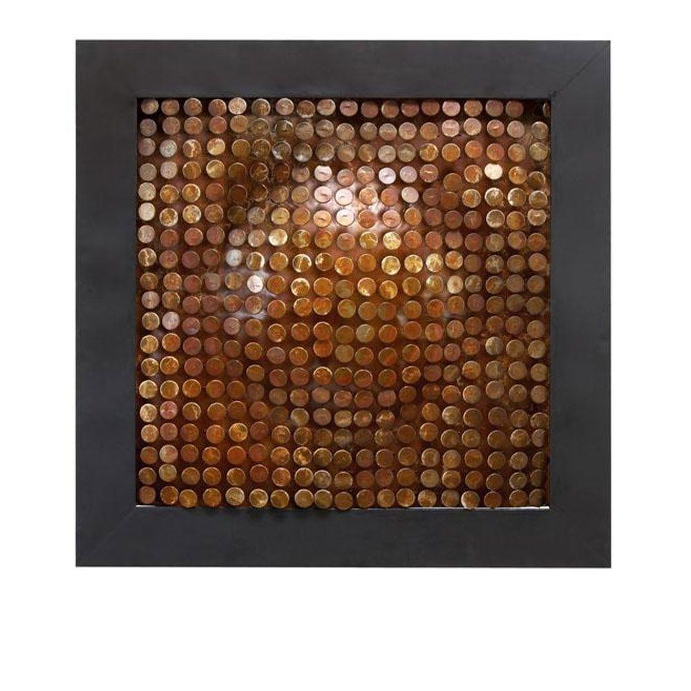 Home Decorators Collection Copley 30 in. Black and Brown Wall Art