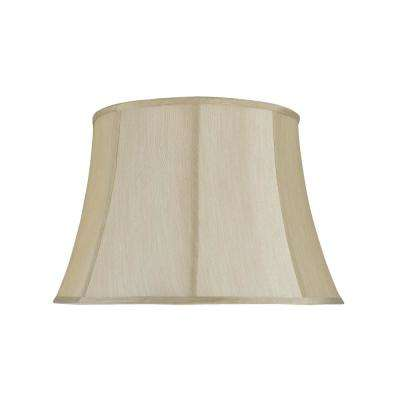 18 in. x 12 in. Beige Bell Lamp Shade