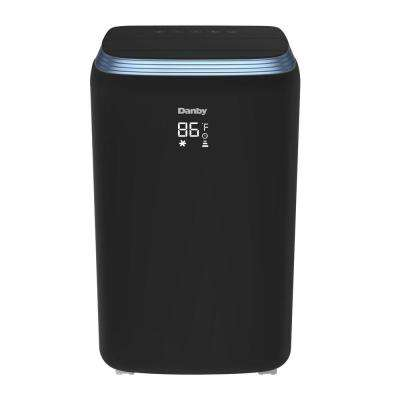 12,000 BTU (6,900 BTU, SACC) Portable Air Conditioner with Heat Pump and Dehumidifier in Black