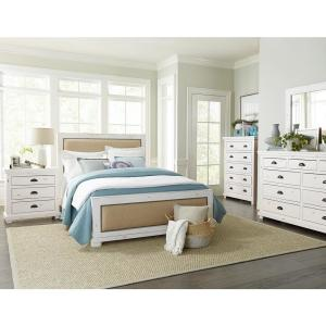 Willow 9-Drawer Distressed White Dresser with Mirror