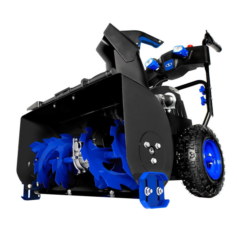 24 in. Cordless Electric Self-Propelled Dual-Stage Snow Blower with (2) 6.0