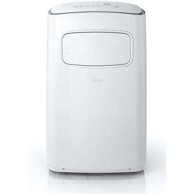 EasyCool 8,000 BTU Portable Air Conditioner with FollowMe Remote Control in White/Silver