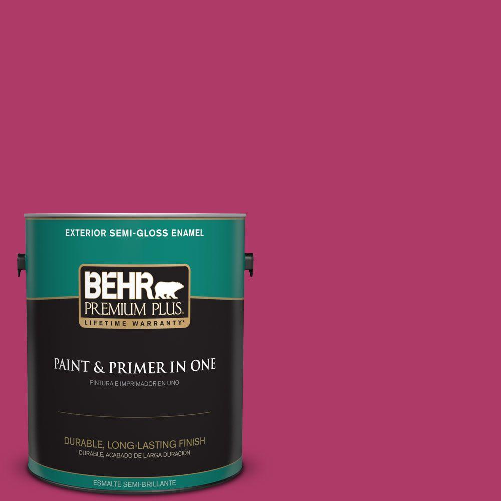 1 gal. #HDC-SM16-04 Bing Cherry Pie Semi-Gloss Enamel Exterior Paint