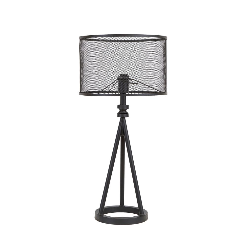 Silverwood 2925 In Woodruff Industrial Tripod Black Table Lamp