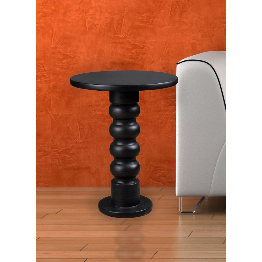 Chimney Satin Bronze End Table