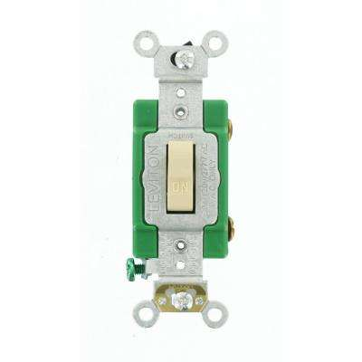 30 Amp Industrial Grade Heavy Duty Single-Pole Toggle Switch, Ivory