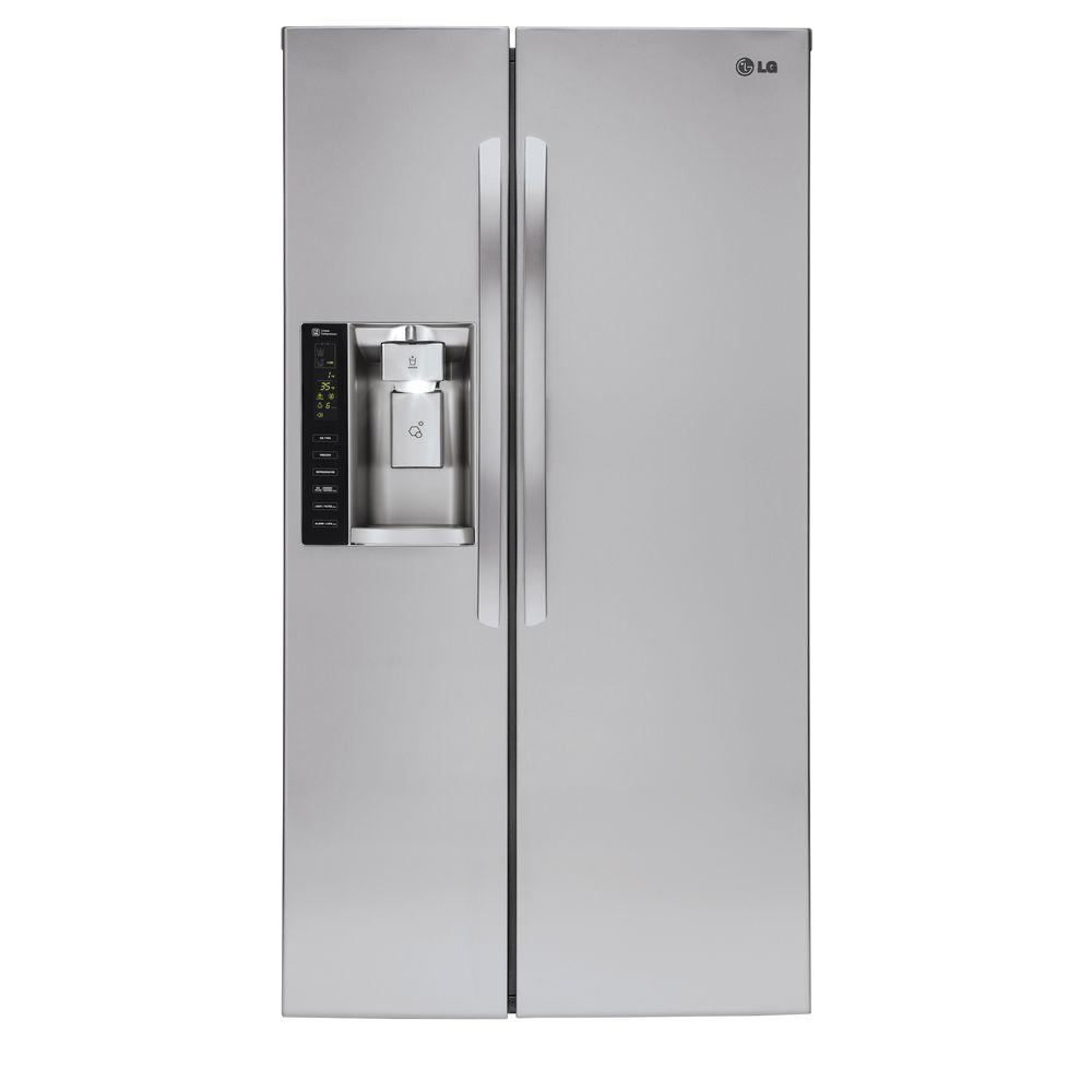 LG Electronics 26.16 cu. ft. Side by Side Refrigerator in Stainless Steel  sc 1 st  The Home Depot & LG Electronics 26.16 cu. ft. Side by Side Refrigerator in Stainless ...