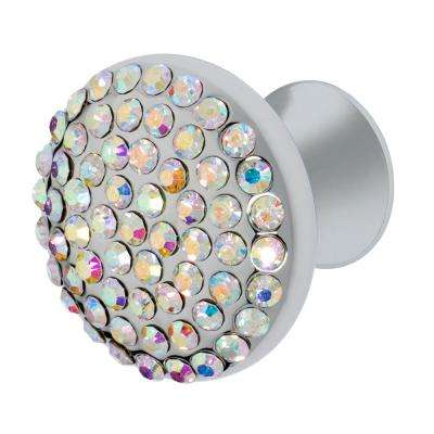 Vivacite 1-1/4 in. Chrome with Multi-Color Crystal Cabinet Knob
