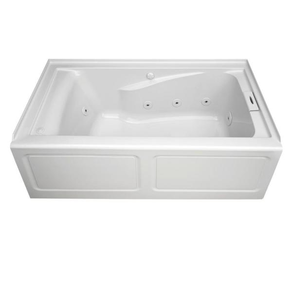 Bathtub Tub Rectangle Acrylic eckwanne 100 x 65 cm Silicone DRAIN Apron