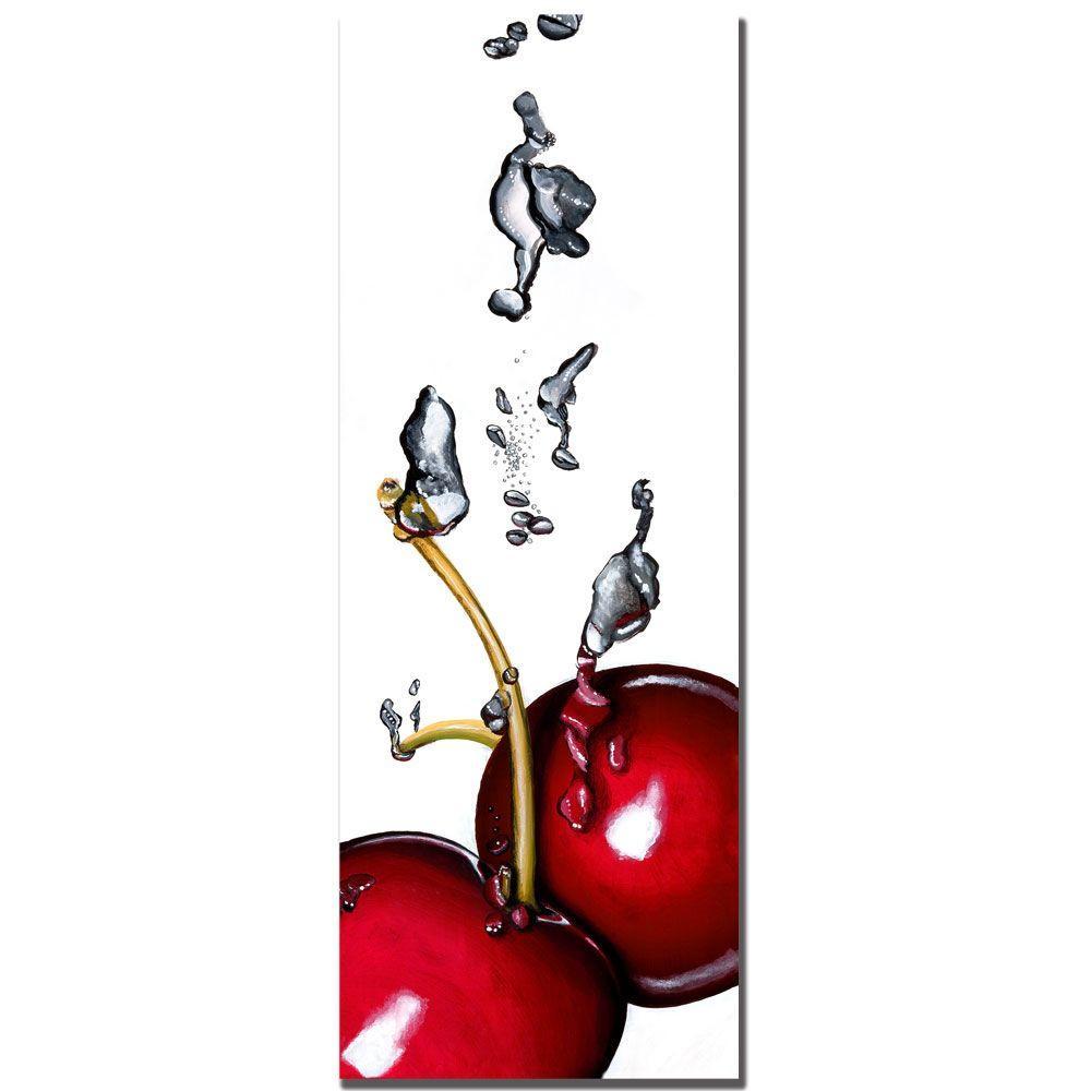 Trademark Fine Art 12 in. x 32 in. Cherry Splash II by Roderick Stevens Canvas Art