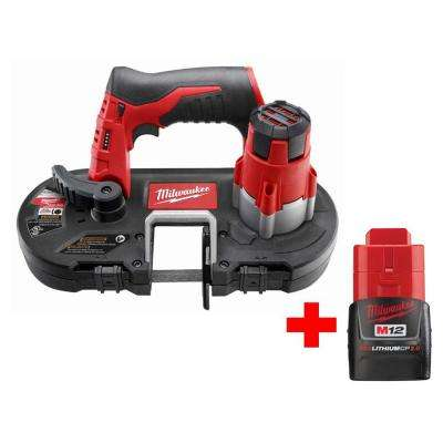 M12 12-Volt Lithium-Ion Cordless Sub-Compact Band Saw W/ Free M12 2.0Ah Battery