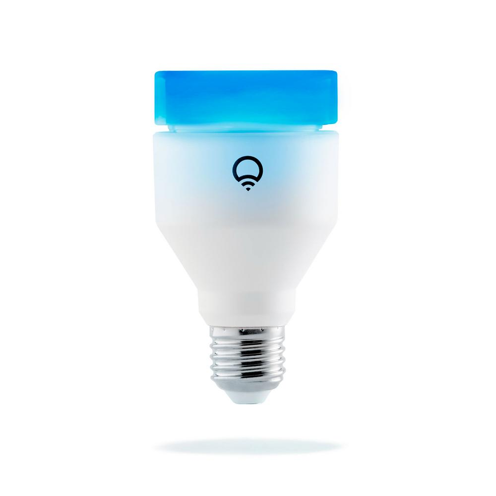 LIFX 75-Watt Equivalent A19 Dimmable Wi-Fi Smart Connected LED Light Bulb in Color Changing (1-Bulb)