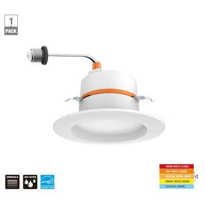 4 in. Color Temperature Selectable Integrated LED Recessed Trim