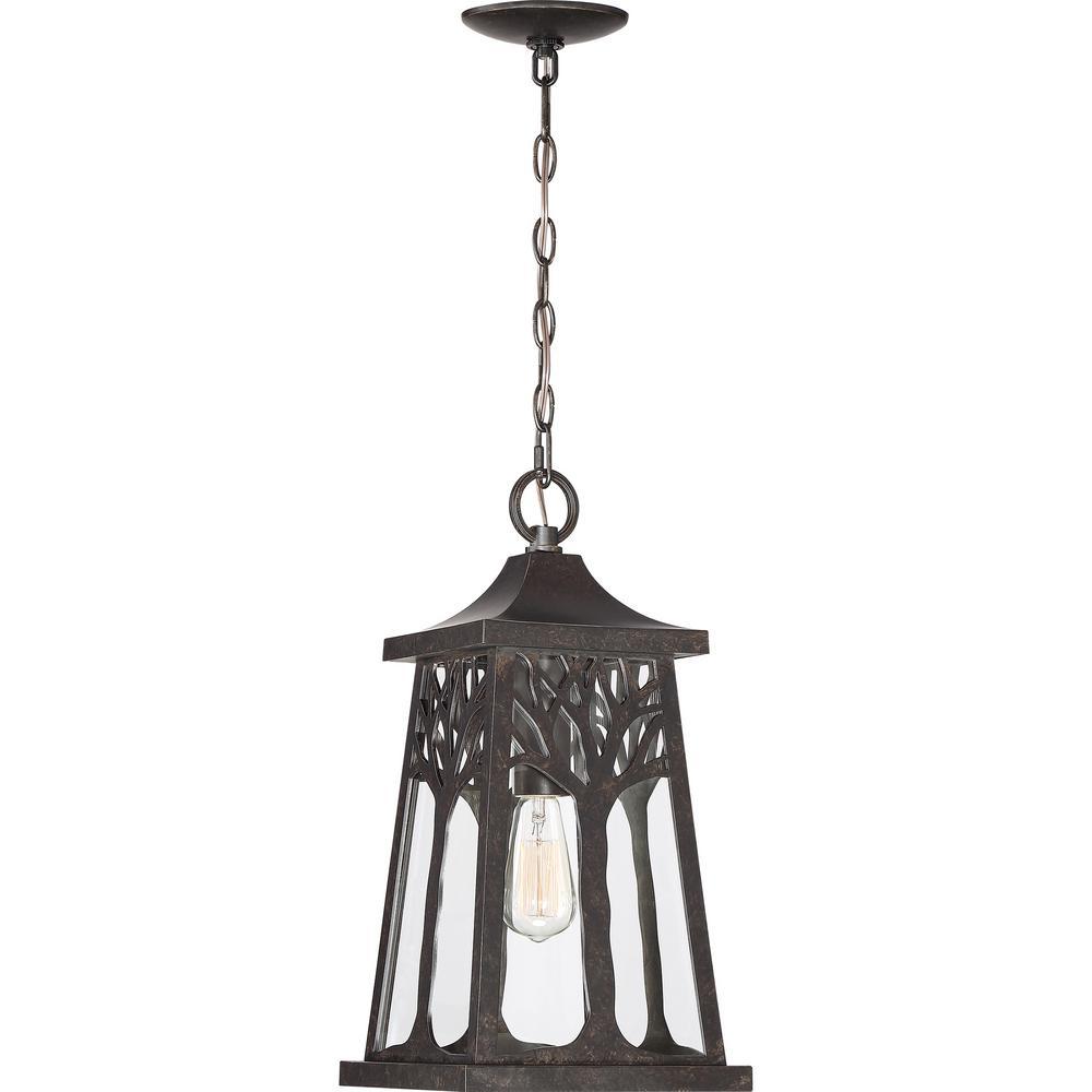 Wildwood 1-Light Bronze Outdoor Pendant Light