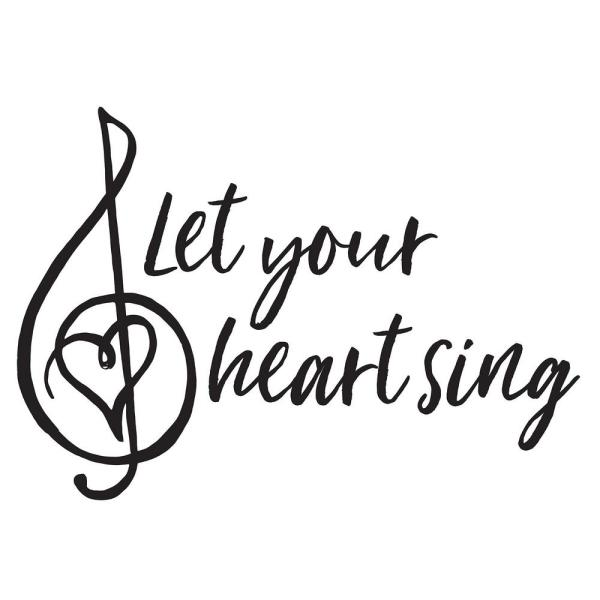 WallPOPs Black Heart Sing Decal Wall Quote