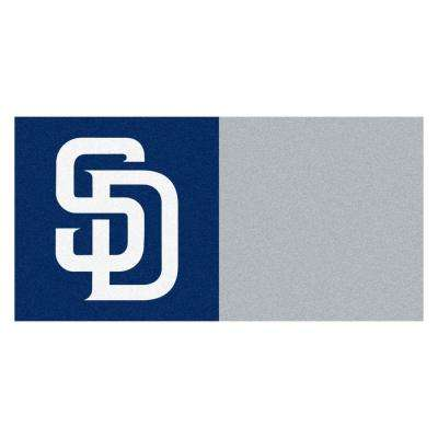 MLB - San Diego Padres Blue and Gray Nylon 18 in. x 18 in. Carpet Tile (20 Tiles/Case)