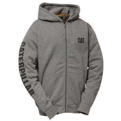 Trademark Banner Men's 2X-Large Dark Heather Grey Cotton/Polyester Full Zip Hooded Sweatshirt