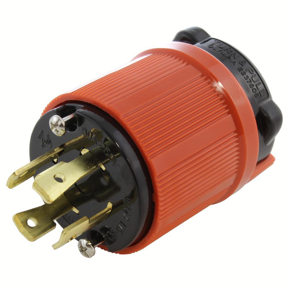 30 A 250 V AC  UL Nema L15-30P /& L15-30R  Plug and Connector
