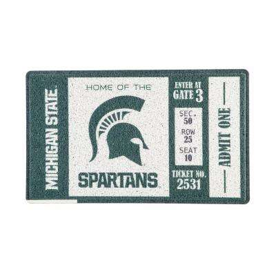 Michigan State University 30 in. x 18 in. Vinyl Indoor/Outdoor Turf Floor Mat