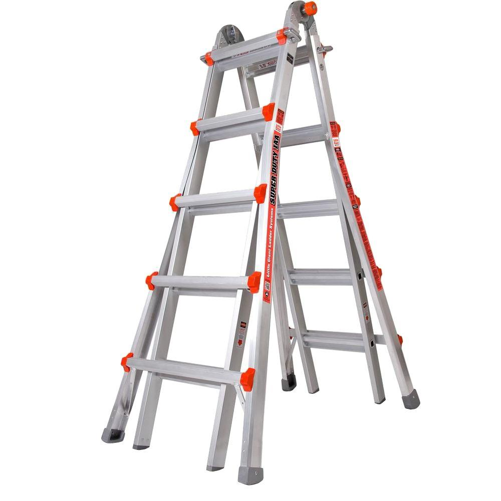 Little Giant Ladder Systems Super Duty 22 ft. Aluminum Multi-Position Ladder with 375 lb. Load Capacity Type IAA Duty Rating