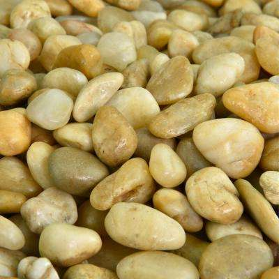 5 lbs. of Yellow 3/8 in. to 5/8 in. Polished Pebbles