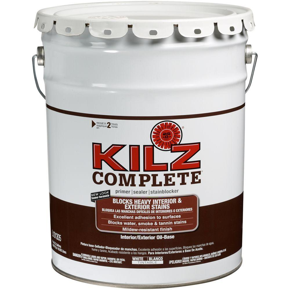 Low Voc Interior Paint: KILZ 5 Gal. Oil-Based White Interior/Exterior Low-VOC