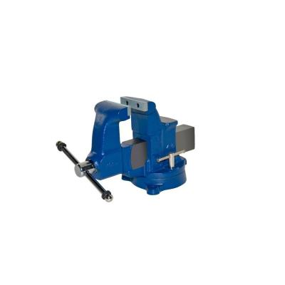 "RIDGID 66987 4-1//2/"" Standard Duty Combination Bench Vise with Swivel Base"