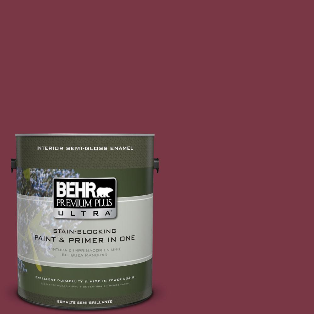 BEHR Premium Plus Ultra 1-gal. #S-H-110 Wine Tasting Semi-Gloss Enamel Interior Paint