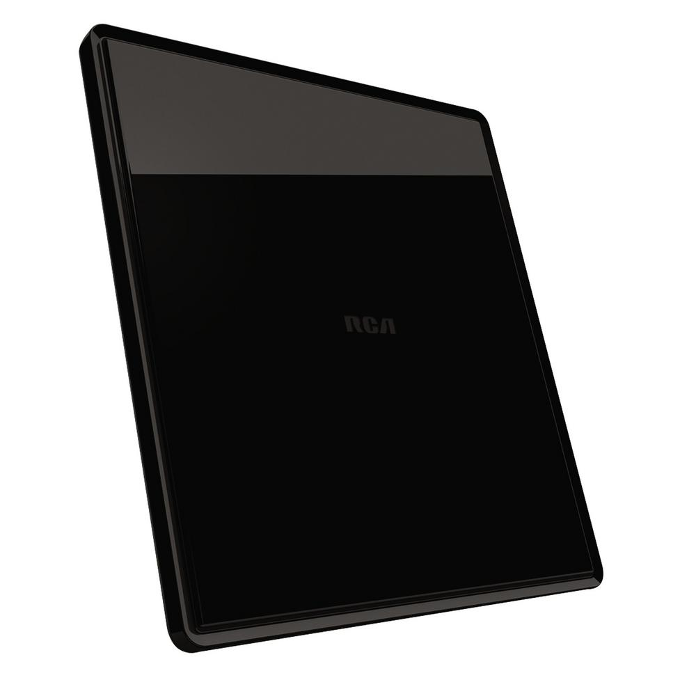 Large Amplified Digital Flat Multi-Directional Indoor Antenna in Gloss Black