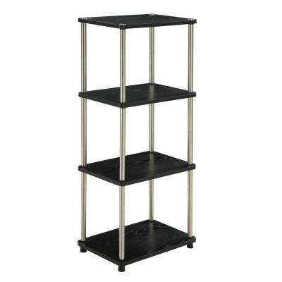 Designs2go Black 4 Tier Audio Tower