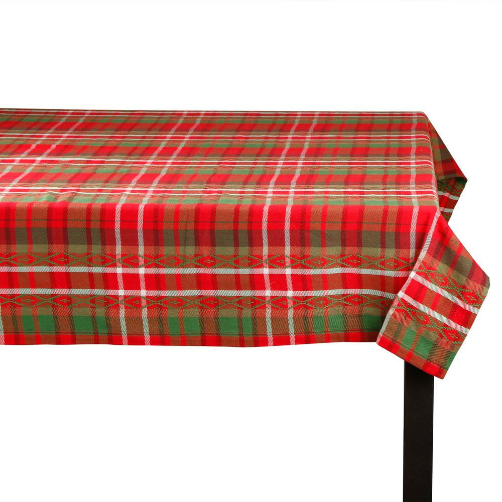 Exceptionnel Tag Deck The Halls Red And Green Cotton Tablecloth