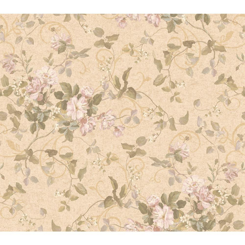 York Wallcoverings Floral Branch Wallpaper
