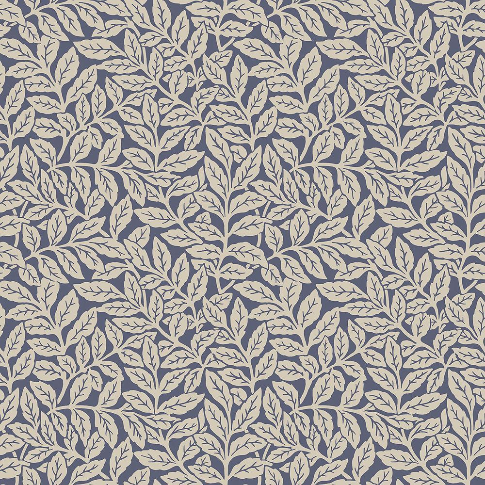 56.4 sq. ft. Ashe Dark Blue Trails Wallpaper