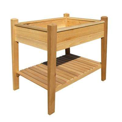 EZ Plant 32.75 in. x 32 in. Natural Cedar Elevated Garden