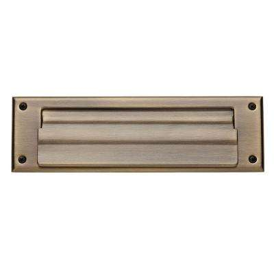 0017 Letter Box Plate in Satin Brass and Black
