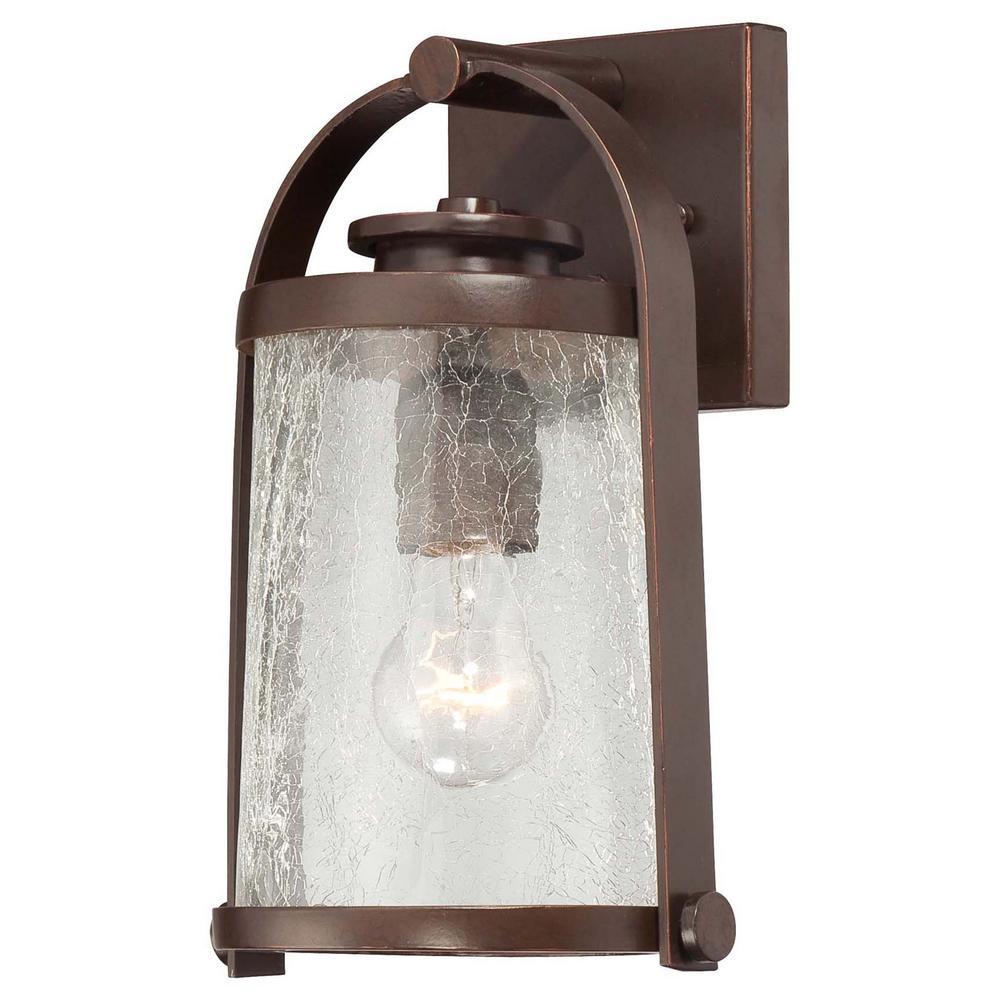 Travessa 1-Light Architectural Bronze Outdoor Wall Mount Lantern