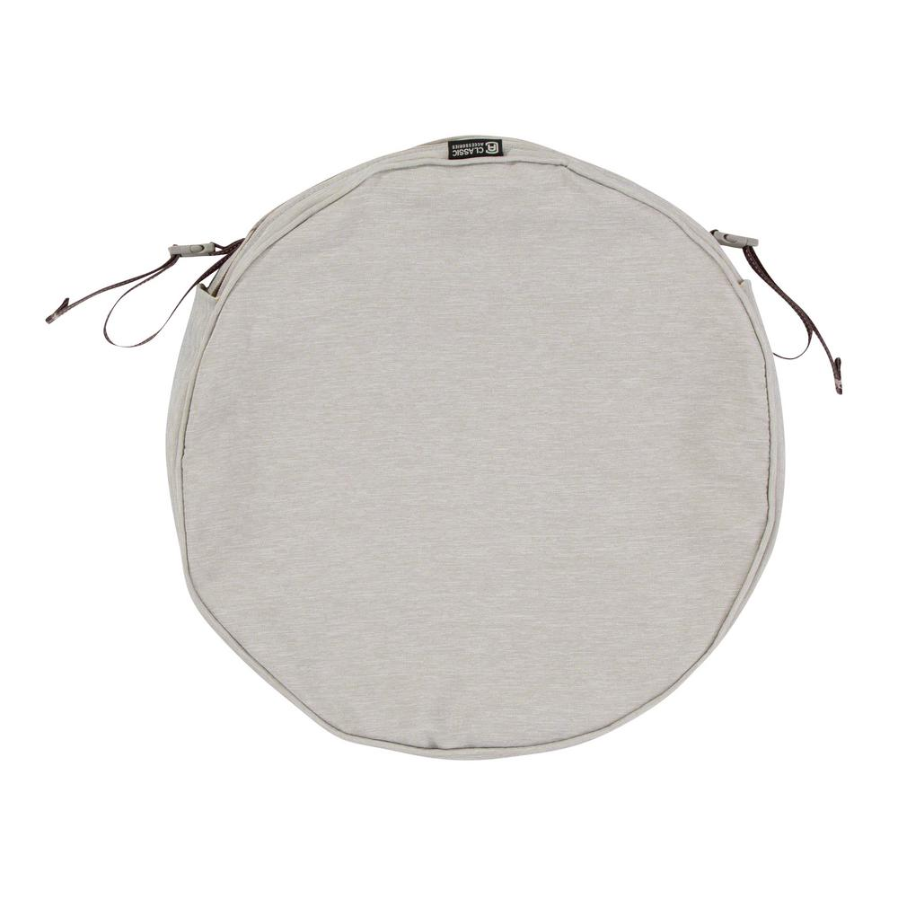 classic accessories montlake fade safe heather grey 15 in round outdoor seat cushion cover 60. Black Bedroom Furniture Sets. Home Design Ideas