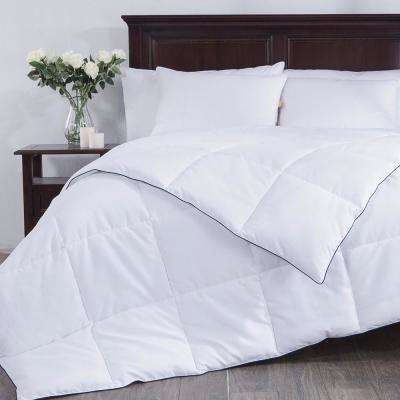White Down Alternative Comforter, Duvet Insert, 100% Polyester, White, Full/Queen Size