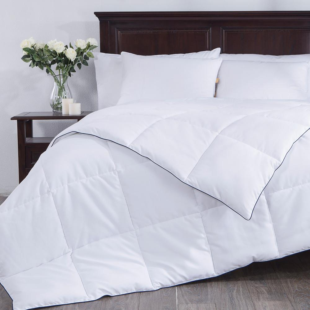 Puredown white down alternative comforter duvet insert 100 polyester white king
